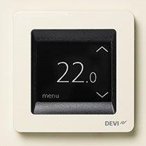 Devireg Touch w kolorze Kość słoniowa- termoregulator z ekranem dotykowym