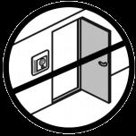odległość od okna i drzwi
