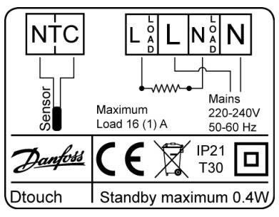 Schemat połączenia elektrycznego termostatu