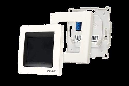 Termoregulator DEVIreg Touch rozłożony na elementy